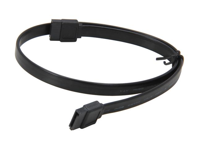 "Coboc SC-SATA3-18-BK 18"" SATA III 6Gb/s Data Cable - Black"