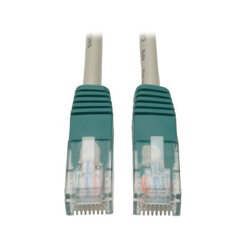 Tripp Lite N010-007-GY 7 Foot Male Grey/Green Cat5e Crossover Cable