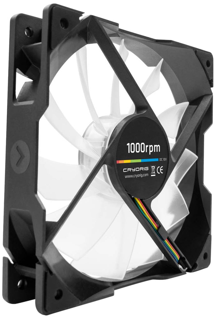 Cryorig CR-QFLB QF120 Silent White LED PWM (2001000 RPM) Fan - 120mm