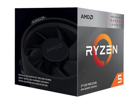 Image of AMD Ryzen 5 3400G YD3400C5FHBOX with Wraith Spire cooler