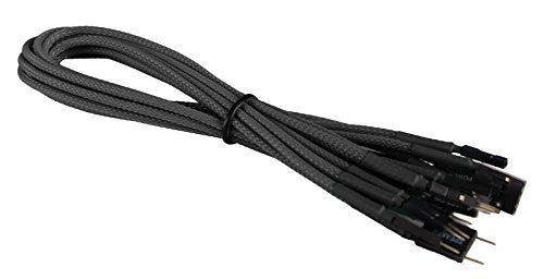 BattleBorn Braided Front Panel Cable Set - Black