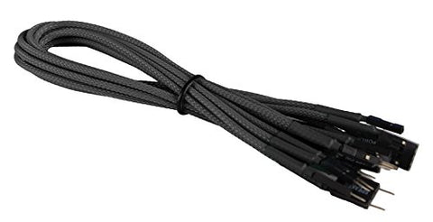 Image of BattleBorn Braided Front Panel Cable Set - Black