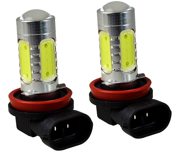 SwitchCartParts H8 COB White LED Bulb Pair