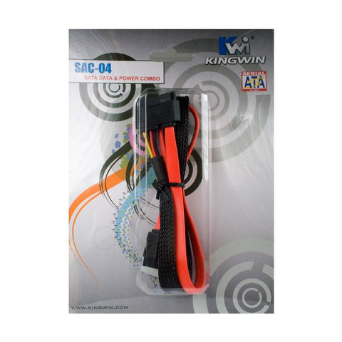 Kingwin SAC-04 SATA Data + SATA Power Combo Cable