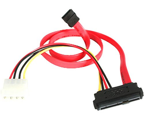 "BattleBorn 25"" 29-pin SAS to SATA and 4-pin Molex Cable - 29pin SAS to 2x SATA"