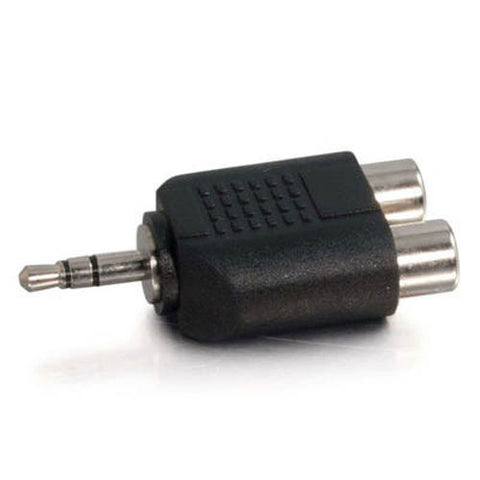 Image of C2G 3.5mm Stereo Male to Dual RCA Female Audio Adapter