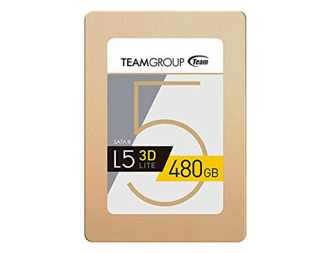 Team Group L5 LITE 3D 2.5 inch 480GB SATA III 3D NAND Internal Solid State Drive (SSD) T253TD480G3C101