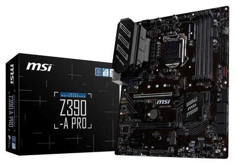 Image of MSI Z390-A PRO LGA 1151 (300 Series) Intel Z390 SATA 6Gbs USB 3.1 ATX Intel Motherboard