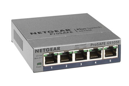 NETGEAR GS105E-200NAS ProSafe Plus 5 Port Gig Switch