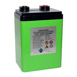 K2 Energy K2B12V19EB LiFePO4 Battery 12 Volt 19.2 Ahr Lithium Iron Phosphate