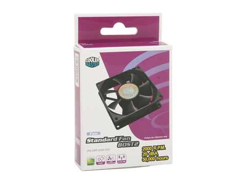 Cooler Master R4-S8R-20AK-GP ST2 Rifle Bearing 80mm Case Fan
