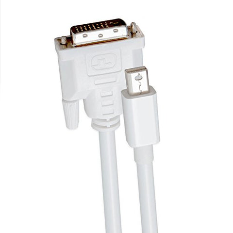 Syba SY-CAB33022 6 Foot Mini DP v1.2 to DVI Cable Male to Male - WHITE