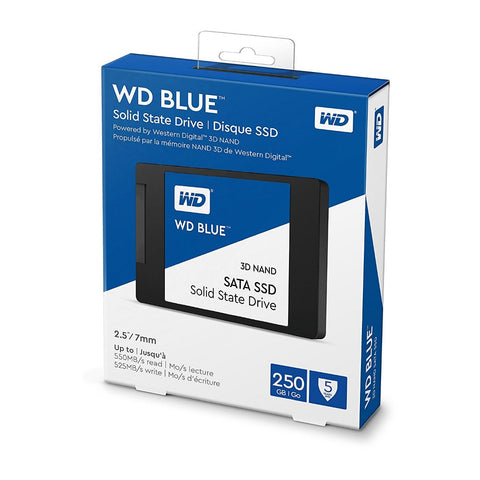 "WD Blue 3D NAND 250 GB 2.5"" Internal Solid State Drive WDS250G2B0A"