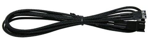 Image of NZXT CB-3F600 Individually Sleeved 3 Pin Fan Extension Premium Cable - Black (600mm / 25 inches)