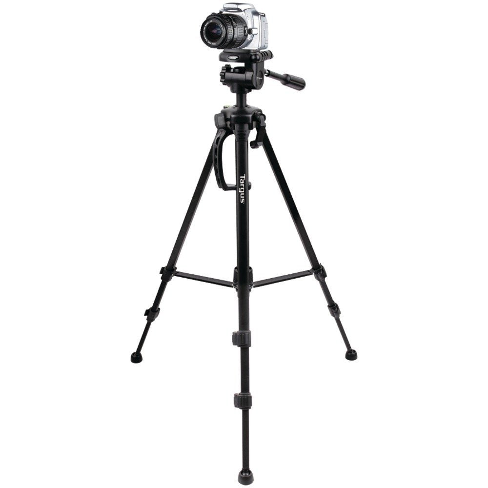 "58"" Targus TGT-BK58T Camera & Camcorder Tripod w/3-Way Fluid Pan Head & Dual Bubble Level Indicator"