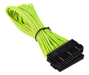 BattleBorn Yellow Braided 24-Pin ATX cable 12 Inch