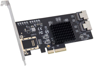 Syba 8 Port SATA III PCI-e x4 Controller Card - Dual SFF-8087 Interface Marvell 9215 Chipset