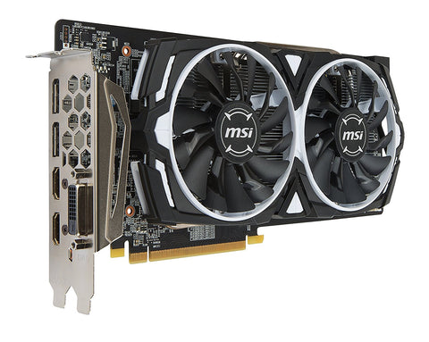 MSI Video Card RX 580 ARMOR 8G OC 8GB GDDR5 256Bit PCI Express Video Card