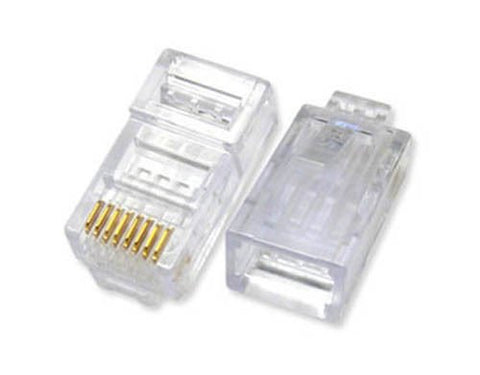 Image of 100 Pack RJ45 UTP LAN Ethernet Network Cable Plug Connector 100 pcs Lot