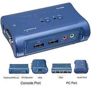 TRENDnet TK-209K Dual Port KVM Switch with Audio