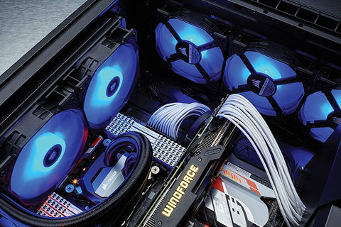 Image of Corsair Air Series AF120 LED (2018) Blue 120mm Fan Triple Pack - 3 Pack CO-9050084-WW