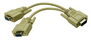 "C2G 25246 8"" Male VGA to Dual Female VGA Y-Splitter Cable"