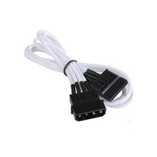 NZXT CBW-11SATA 450mm MOLEX to SATA Power Cable White
