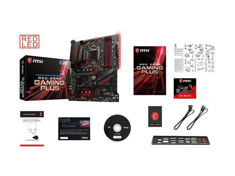 Image of MSI MPG Z390 GAMING PLUS LGA 1151 (300 Series) Intel Z390 HDMI SATA 6Gbs USB 3.1 ATX Intel Motherboard