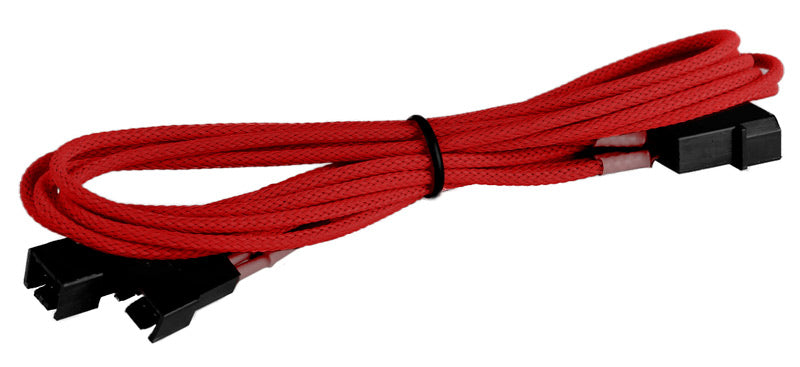 BattleBorn CB-33F12V-Red Molex to 2 x 3-Pin Cable - Braided Sleeve Red