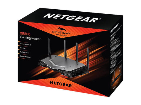 Image of NETGEAR Nighthawk Pro Gaming Wi-Fi Router (XR500) AC2600 Dual-Band Quad Stream Gigabit