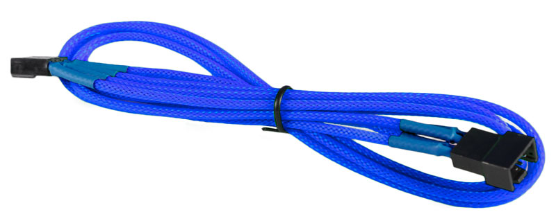 BattleBorn Dark Blue PWM 4-Pin Fan M/F Extension Cable