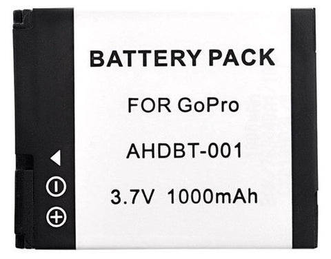 Replacement Battery AHDBT-001 AHDBT-002 for GoPro HD 1100mAh