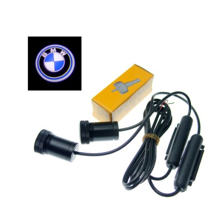SwitchCarParts 2Pcs BMW Car Decoration Projection Logo Step Laser Shadow Welcome LED Light