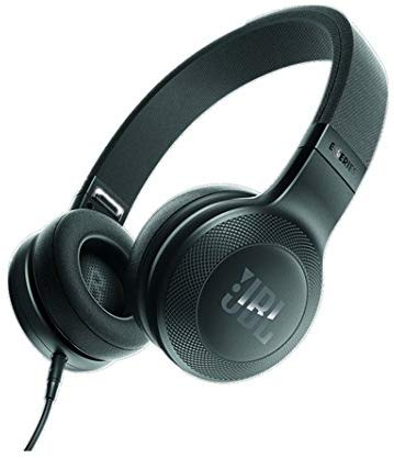 JBL E35 On Ear Signature Headphones With Mic - Black