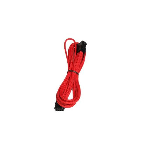 BattleBorn 12-inch 8-Pin PCI-E Extension Cable - Braided / Sleeved - Red