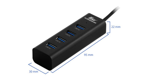 Kingwin WZ-400-BK 4x Super Speed USB 3.0 Ports