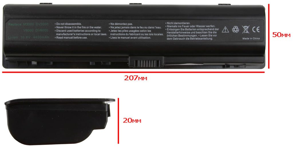 Replacement Laptop Battery for HP Pavilion DV2200 / DV6000