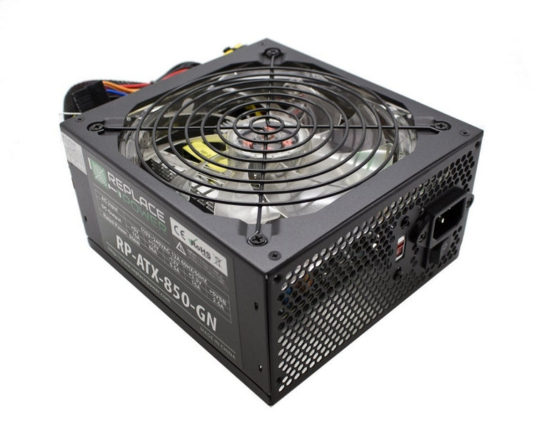 ReplacePower 850W ATX Power Supply Green LED