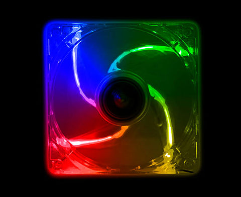 Image of Kingwin CFMC-012LB 120mm Long Life Bearing Multi-Color LED Case Fan