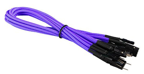 Image of BattleBorn Braided Purple Front Panel Cable Set