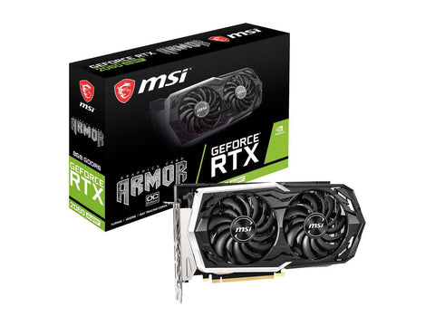 MSI ARMOR GeForce RTX 2060 SUPER ARMOR OC GeForce RTX 2060 SUPER Graphic Card G206S-AC