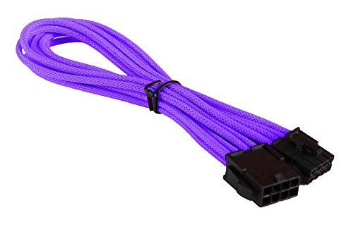 BattleBorn M/F 8 Pin EPS Purple Braided Extension Cable