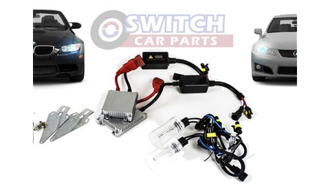 Image of SCP H9 6000K HID Xenon Car Fog Headlight Bulbs and Harness - White