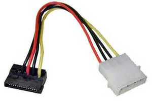 "BattleBorn 6"" 4-Pin Molex to Right Angle SATA Power Adapter"