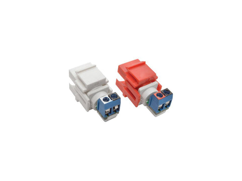 Image of Tripp Lite RCA Female Audio to Screw Terminal Keystone Jack Kit Red/White