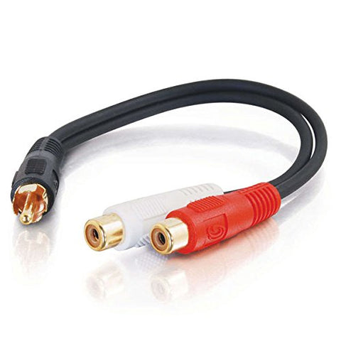 C2G Value Series 6in RCA Splitter Cable - 1x Male to 2x Female