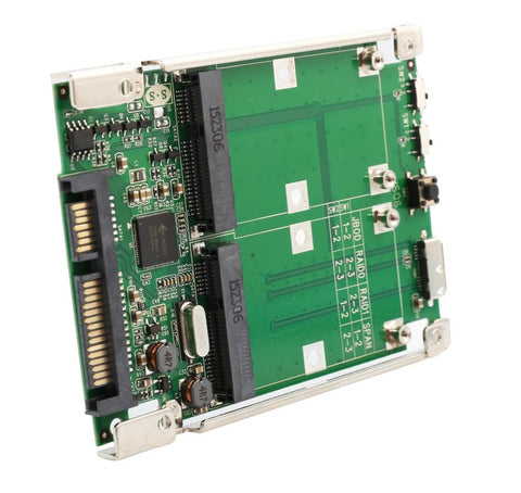 "Image of Syba SD-ADA40107 2.5"" SATA 6G / USB 3.0 to Dual mSATA RAID Adapter"