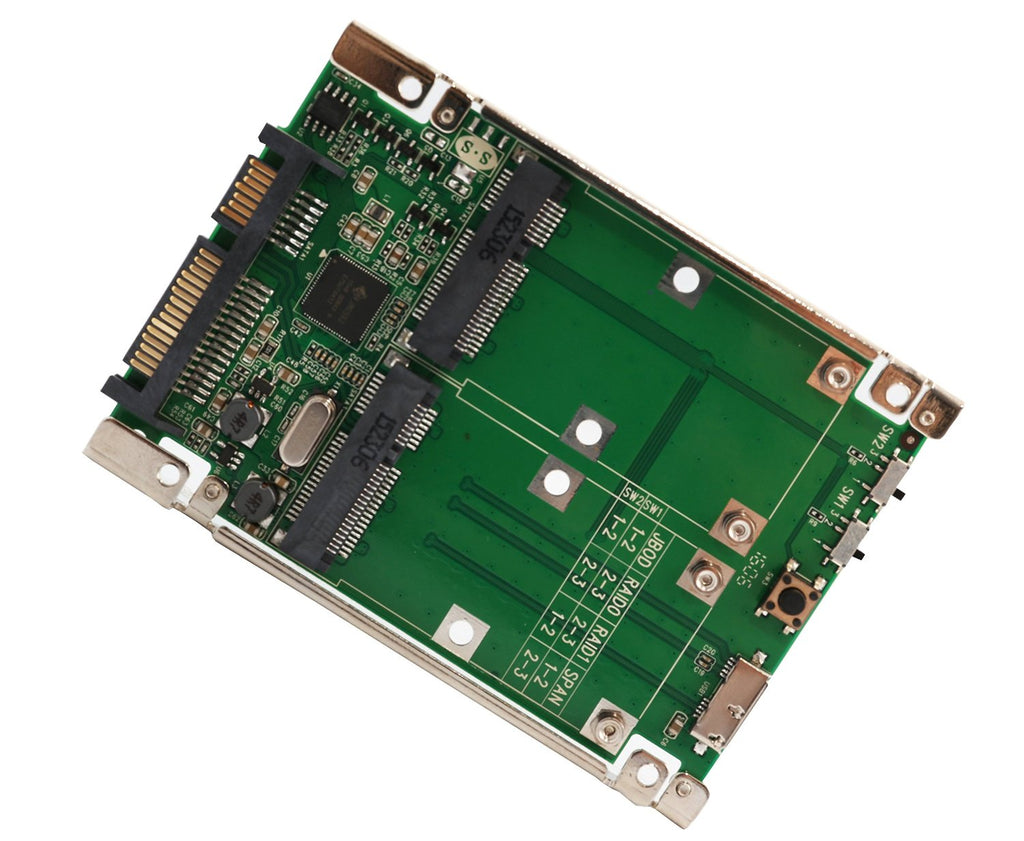 "Syba SD-ADA40107 2.5"" SATA 6G / USB 3.0 to Dual mSATA RAID Adapter"