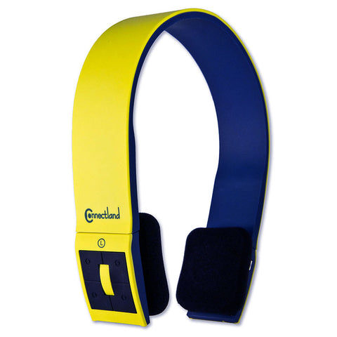 Image of Syba CL-AUD23038 Yellow Headband Stereo Bluetooth v2.1 Headset & Mic