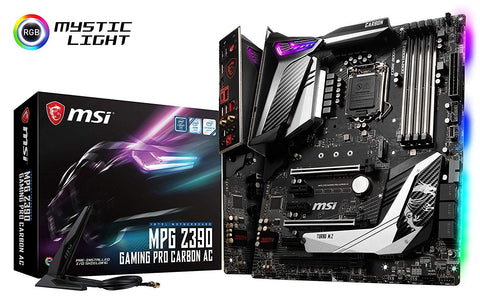 Image of MSI MPG Z390 GAMING PRO CARBON AC LGA 1151 (300 Series) Intel Z390 HDMI SATA 6Gbs USB 3.1 ATX Intel Motherboard